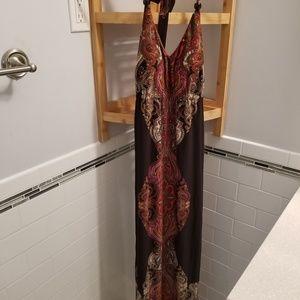 Snap Halter Long Maxi Dress
